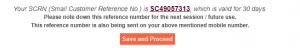 SAR number