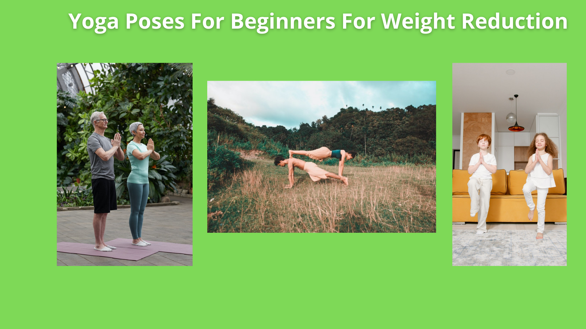 'Yoga Poses For Beginners For Weight Reduction'